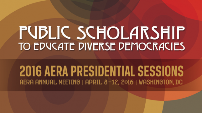 2016 American Educational Research Association (AERA) Meeting