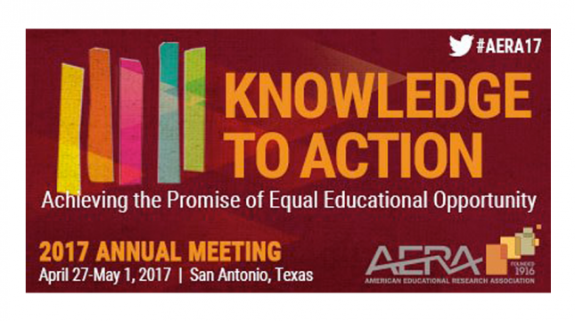 2017 American Educational Research Association (AERA) Meeting