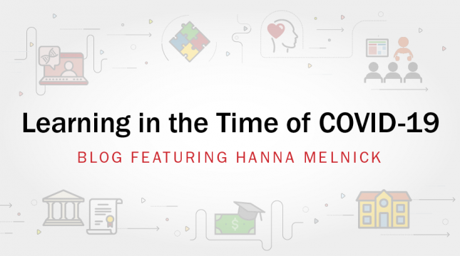 Learning in the Time of COVID-19 banner