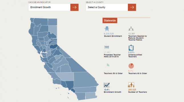 Interactive map of California teacher shortage