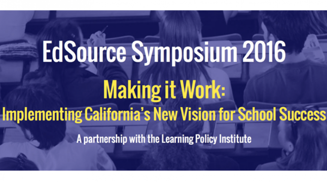 Making it Work: Implementing California's New Vision for School Success