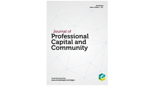 Cover of Journal of Professional Capacity and Community