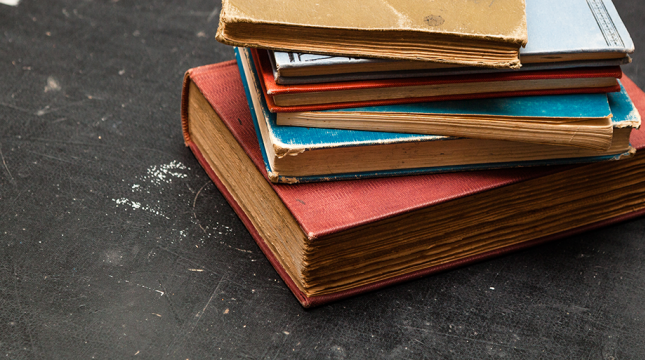 Tattered school books